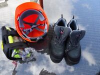 Brand new Site safety kit and brand new TUF boots