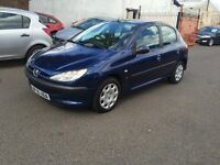 PEUGEOT 206 1.4 HDI LONG MOT TILL AUGUST 2016 BARGAIN DIESEL 5 DOORS