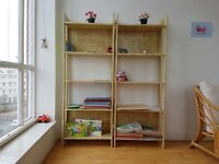 2x bookcases with 5 shelves in excellent conditions