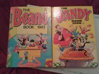 beano 1983 and dandy 1990