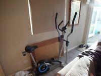 Combination exercis bike/cross trainer