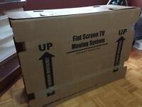 Flat screen TV cardboard box