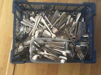 Wedding Catering Cutlery 100 sets used once- originally from Sainsburys