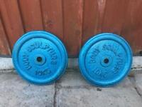 2x 10kg Cast Iron Weights Plates. (+More Available)