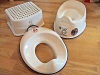Baby Bjorn Toilet Training Seat Toddler & Adjustable smart Potty Removable Bowl splash-guard + Step