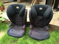 Britax Kidfix BX Black Thunder Isofix car seats