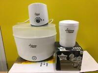Tommee tippee electric steriliser warmer baby bottle bundle + extras