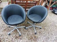 TWO SWIVER CHAIRS £20 OR £30 FOR BOTH