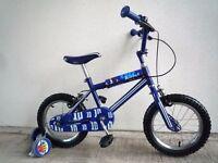 "(2145) 14"" LAZYTOWN Boys Girls Kids Bike Bicycle Age: 3-5, 97-113 cm Blue"
