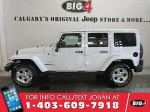 2014 Jeep Wrangler Unlimited Sahara, Leather, white on white