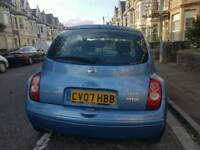 NISSAN MICRA ,1.2, 74K ,LONG MOT ,CHEAP ON TAX AND FUEL ,TIDY ,BIG BOOT £875 ONO