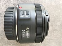 Canon EF 50 mm F 1.8 STM for Canon EOS Black brand new