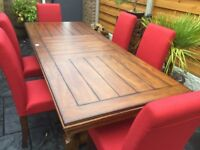 Willis & Gambia, Oak Extending Dining Table & Six Chairs, Brand New.
