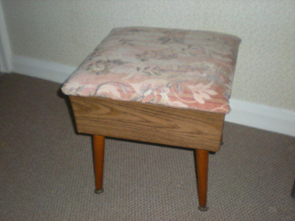 stool type sewing box