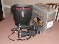 Rare Carl Wetzler binoculars; 12x50 in case and boxed,