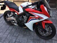2014 Honda CBR650-F, Excellent Condition & Low mileage