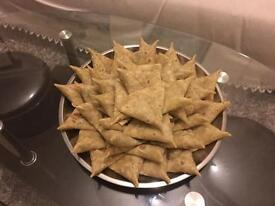 Tasty fresh home made samosa