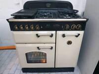 Rangemaster Classic Dual Fuel Range Cooker with Hood 90CM