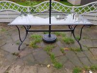 Garden table glass Lucca Range 6 seater