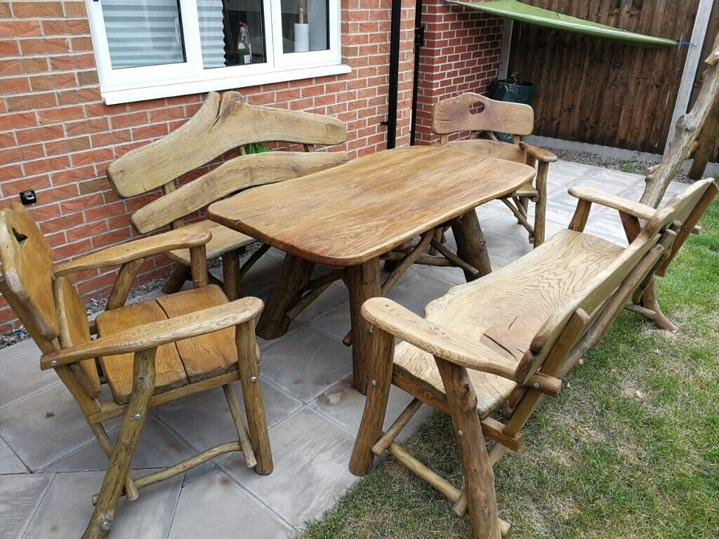 Pleasing Solid Hand Made Wooden Garden Furniture Set Elm Oak Acacia In Birmingham West Midlands Gumtree Home Interior And Landscaping Fragforummapetitesourisinfo