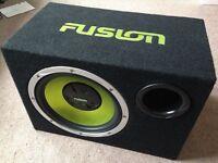 "12"" 1000w Subwoofer & Amplifier - sub and amp boom bass box bassbox woofer usb headunit"