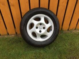 "Peugeot 15"" inch spare wheel alloy and tyre"