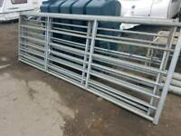 Selection of galvanised field gate farm livestock tractor