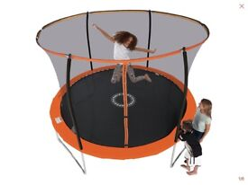 Sportspower 8ft trampoline with folding enclosure including ladder and anchors