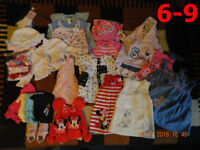 Girl Clothes, 6-9 & 9-12 months