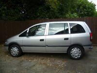 2004 Vauxhall Zafira 1.6 16v Club, Full MOT, 7 seats, Very good condition