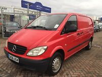 *REDUCED*MERCEDES VITO 109 CDI COMPACT VAN TWIN SIDE DOORS SUPERB DRIVE VERY TIDY LONG MOT ONE OWNER