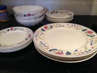 BHS Plates and Bowls - set for 4 Made in Britain!