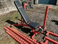 Power Rack and Adjustable Bench
