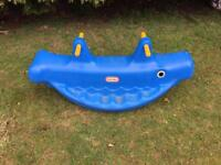 """Little Tikes """" Whale"""" seesaw"""