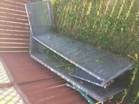 Galvanized steel bed caging