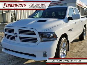 2014 Ram 1500 Sport | Crew - Heated Leather, Backup Cam