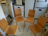 Ikea Bjursta table & 6 ikea chairs, 4 wooden 2 fabric with covers