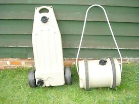 caravan water and grey waste containers. good condition ,collection only.