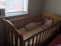 Mamas and Papas Cot Bed and mattress. As good as new