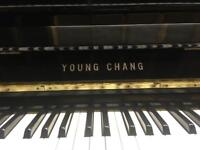 Excellent Young Chang Upright Piano Black Gloss, modern compact, like Yamaha, free local delivery*