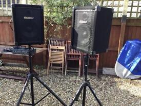 Carlsboro speakers and amp