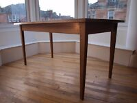 Teak dining table, mid century modern, seats 6, vintage, wooden,