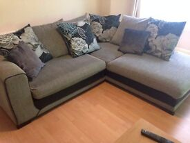 Corner and two seater sofa