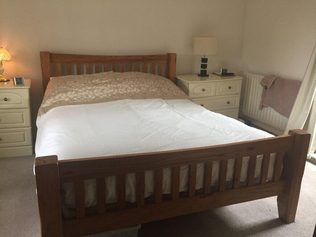 Kingsize Solid Oak Wooden Bedstead In Tenby Pembrokeshire Gumtree