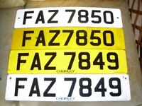 Cherished Number Plates - Consecutive