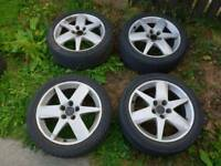 4 ALLOYS WITH TYRES 225/45/17 FOR SALE