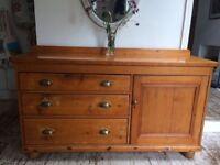 Vintage solid pine sideboard
