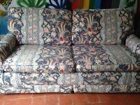 Sofa bed with sprung mattress