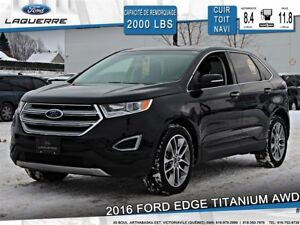 2016 Ford Edge TITANIUM**20''*AWD*CUIR*TOIT*NAVI*CAMERA**