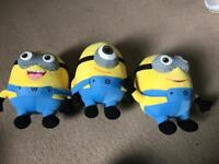 3x Minions Soft Toys *Collection only